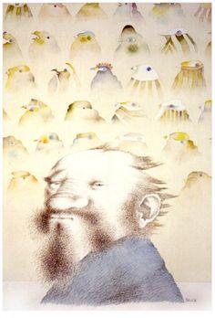 Robinson e gli uccelli, 1984 -  Tullio Pericoli
