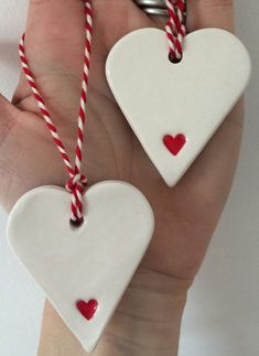 Christmas Clay, Diy Christmas Ornaments, Homemade Christmas, Diy Christmas Gifts, Christmas Projects, Holiday Crafts, Christmas Decorations, Clay Ornaments, Polymer Clay Crafts