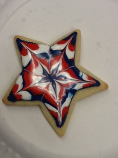 This is a Fourth of July cookie actually really easy to make!