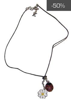 #kookai #jewels - Collana con ciondolo coccinella e margherita