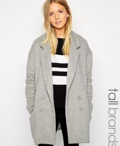Shop Brave Soul Tall Double Breasted Coat at ASOS. Order now with multiple payment and delivery options, including free and unlimited next day delivery (Ts&Cs apply). Clothing For Tall Women, Coats For Women, Clothes For Women, Tall Guys, Tall Men, Shoes Too Big, Dressing, Big And Tall Outfits, Oversized Blazer
