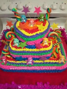 Care Bear Cake Make Rainbow Slide