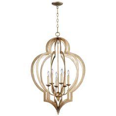 Filament Design Prospect 6-Light Silver Leaf Incandescent Ceiling Chandelier-05972 - The Home Depot
