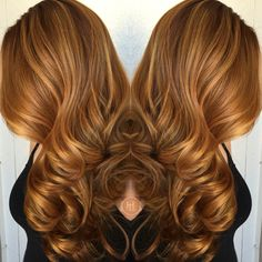 Autumn hair color, bayalage , warm copper blonde, hair by:Emilio V. @ Hairlegacy.com follow me on IG.