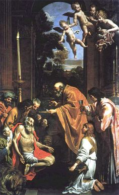 DOMENICHINO AL ULTIMA COMUNION DE SAN JERONIMO 1614