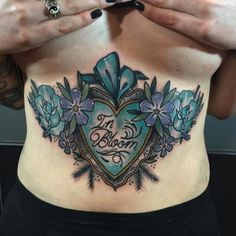 Nirvana tummy for Molly ! You were amazing by jodydawber Neo Traditional Tattoo, American Traditional, Tribal Tattoos, Girl Tattoos, Nirvana Tattoo, Feminine Tattoos, You Are Amazing, Pretty Tattoos, Kunst