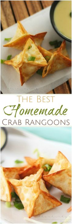 Crab Rangoons | The Chunky Chef | Like your favorite Chinese takeout appetizer... but WAY better!! These crab rangoons are simple to make and taste so good, the whole family will enjoy them!