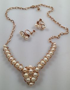 1940s Vintage CULTURED PEARL and 12 Kt. Gold by thepopularjewelry, $199.00