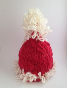REDUCED 8 to 12 month CHRISTMAS Santa Hat Hand by AprilsYarnables, $10.00