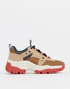 Bershka – Sneaker zum Wandern mit dicker Sohle in Braungrau | ASOS Asos, Sneakers, Fashion, Taupe, Hiking, Get Tan, Birthday, Tennis, Moda