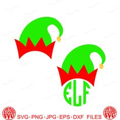 Elf Hat Silhouette FREE SVG Tatus Pinterest Elf hat