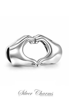 Heart in Hands I Love You Charm Bead 925 Sterling Silver Gift