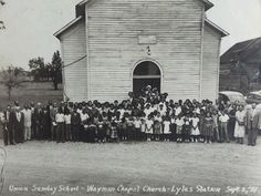 Built in 1887, Wayman Chapel retains an active congregation today. The congregation is small but still engaged with the community. The church's pastor, is the Rev. Allen McClendon. Today, Wayman Chapel is the only one of Indiana's 50 AME churches that is in an agrarian setting.  Lyles Station was settled by and named after Joshua Lyles, a free black who came to the area from Tennessee in the early 1800s. (Wayman Chapel, 1951)