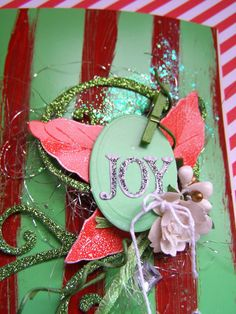 Stand out Christmas cards with glitter, bling and paint.