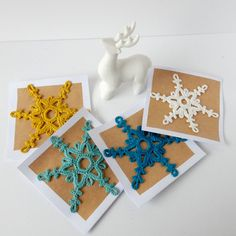 The best tutorial Snowflake Greeting Anisbee - Wool | Abracadacraft, Ideas for Today and hands