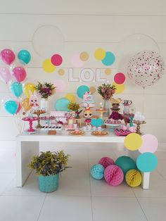 some great ideas fot a Lol surprise dolls birthday party. Party decoration available on Funidelia's website. Diy Birthday Decorations, Balloon Decorations Party, Party Decoration, Balloon Ideas, Birthday Party Outfits, 6th Birthday Parties, 7th Birthday, Best Birthday Surprises, Bridal Shower Balloons