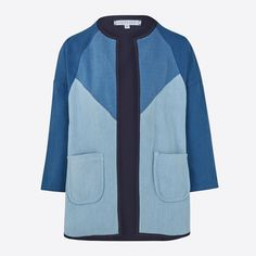 Sideline Indigo Lola Coat: The Lola coat is an unique patchwork indigo kimono inspired jacket. Lined in cotton with a contrast indigo and pale blue design, the coat has a drop shoulder and front pockets making it an easy wear piece to layer up throughout the seasons.