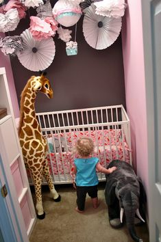 Tiny little closet room for toddler. I think this is brilliant. // paper & ink