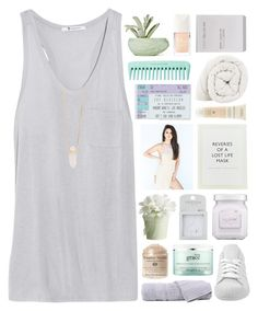 """""""i mean i could but why would i want to?"""" by annamari-a ❤ liked on Polyvore featuring T By Alexander Wang, adidas, Hamam, philosophy, Topshop, Chen Chen & Kai Williams, Christian Dior, ...Lost, Ex Voto Paris and Aveda"""