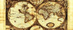 Fototapeta Panoramiczna Starodawna Mapa Świata 571VEP