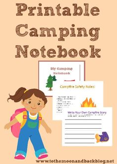 FREE Printable Camping Journal - To the Moon and Back