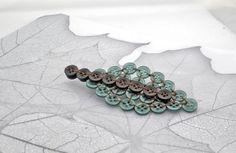 Leaf Button Brooch by P8 Accessories & Button Art, via Flickr