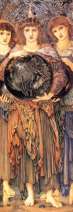 Edward Burne-Jones - Days of Creation, the third day......does remind me of  muses!