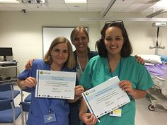 Ana and Paloma with Marie-Helene at Torbay Hospital - what an amazing experience