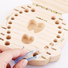 Developmental Baby Toys Personalised Wooden Baby Tooth Fairy Box Boy/Girl Saver Box Storage Meaning Any & Garden Tooth Fairy Box, Tooth Box, Baby Toys, Baby Gadgets, Baby Growth, First Tooth, Baby Memories, Childhood Memories, Birthday Gifts For Kids