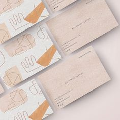 Cute business cards 💛 These will be up in my Etsy shop very soon. Who else is loving abstract art at the moment 😍 Cute Business Cards, Business Cards Layout, Elegant Business Cards, Business Card Design, Etsy Business Cards, Letterpress Business Cards, Brand Identity Design, Branding Design, Logo Design