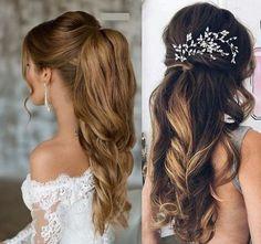 Coafura Pony Tale. Una din cele mai frumoase si simple coafuri. Perfecta pentru fetele cu par lung Wedding Hairdressers, Wedding Hair Side, Wedding Hairstyles, Bridal Hairstyle, Hair Looks, Hair Makeup, Hair Beauty, Long Hair Styles, Stylish