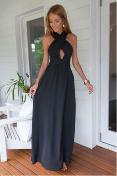 Prom Dress For Teens, A-Line Halter Sleeveless Navy Blue Chiffon Prom Dress with Keyhole, cheap prom dresses, beautiful dresses for prom. Best prom gowns online to make you the spotlight for special occasions. Navy Blue Prom Dresses, Backless Prom Dresses, Prom Dresses Online, Maxi Dresses, Party Dresses, Bridesmaid Dresses, Chiffon Dresses, Prom Gowns, Dress Party