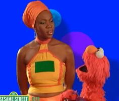india arie and elmo | Video: Elmo Performs with India Arie | Your Black World