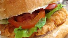 Wendy's spicy chicken sandwich recipe. So good. Also cut the bnls sknls chicken breasts into nuggets and make spicy chicken nuggets with this recipe.