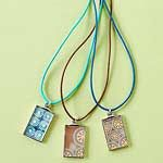 Make Jewelry with Scrapbook Supplies
