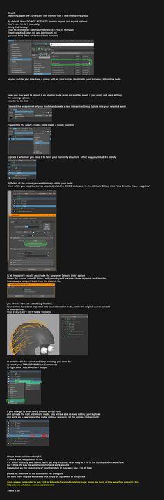 ArtStation - xGen interactive - import and export curves to edit , Claudio Clemente