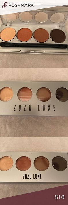 Zuzu Luxe Eyeshadow Quad Vegan, natural and gluten-free eye shadow palette with 4 colors. Very pigmented. New, in box, never used. Makeup Eyeshadow