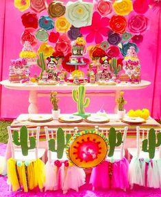 Tema Cactos - Tendência Festa Infantil 2017 Frida Kahlo 10