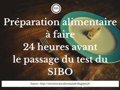 préparation alimentaire 24 heures avant le test du SIBO #SIBO #test #préparation