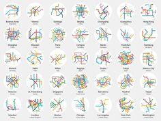 '220 Mini Metros' Illustrates Metro and Train Networks from Around the World