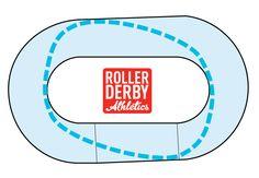 Roller Derby Track Diamond