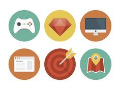 Flat-icons-by-Gimpo-Studio-Oksana-Nick via dribbble
