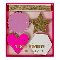 Toot Sweet Pink Mini Garland, 14' | 1 ct