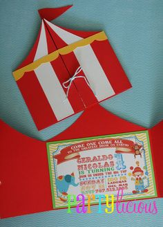 Carnival Party invites (and other ideas)