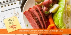 Corn Beef And Cabbage, Cabbage Recipes, Smoked Corned Beef, National Day Calendar, Salt Pork, National Holidays, Smoking Meat, Spice Mixes, Dinner Tonight