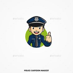 Buy Police Cartoon Mascot Vector by Firmanisme on GraphicRiver. Police Cartoon Mascot is editable vector for brand, advertise, social media, organisation or any other needs. Police, Bullet Journal, Cakes, Cartoon, Wallpaper, Logos, Drawings, Fictional Characters, Design