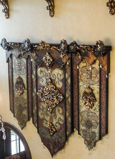 Each of these gorgeous pieces of Steve Taff Old World Dimensional Wall Art are handmade and detailed to perfection! Customization of size and colors available. Tuscan Style Decorating, Tuscan Design, Old World Style, Old World Charm, Decorative Accessories, Home Accessories, Style Toscan, Tuscan Furniture, Tuscany Decor