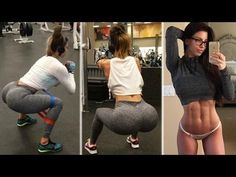 BRITTANY PERILLE - Fitness Model: Strengthen Quads and Glutes   Tonificar Piernas y Glúteos @ USA - YouTube