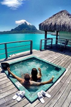 """Couples goals at the St. Regis Resort in Bora Bora French Polynesia courtesy of … Couples goals at the St. Regis Resort in Bora Bora French Polynesia courtesy of """"Dream Big Eat Well . Vacation Ideas, Vacation Destinations, Dream Vacations, Vacation Spots, Romantic Honeymoon Destinations, Couples Vacation, Romantic Vacations, Holiday Destinations, Bora Bora French Polynesia"""