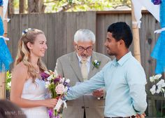 Beautiful backyard wedding.